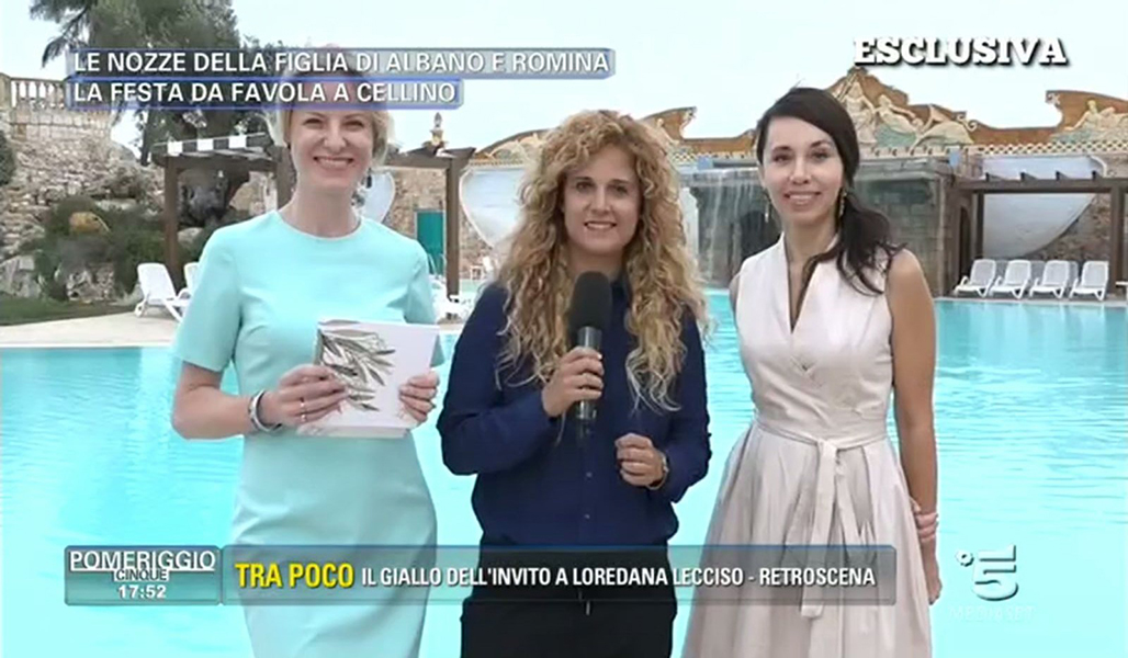 Live broadcast from the wedding of Сristel Carrisi from Canale 5