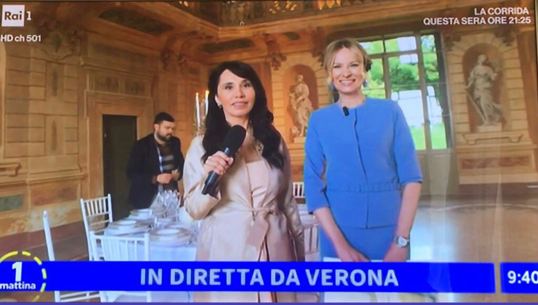 Live on the Italian TV channel Rai1, program UnoMattina